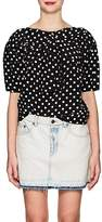 Marc Jacobs Women's Polka Dot Silk Blouse