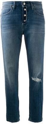 Frame Le Pegged distressed jeans