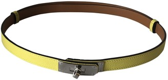 Hermes Kelly Yellow Leather Belts