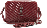 Saint Laurent Lou quilted patent-leather cross-body bag