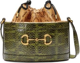 Gucci 1955 Horsebit snakeskin bucket bag