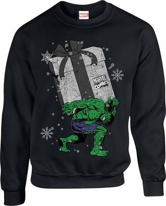 Marvel Boy's Christmas Hulk Sweatshirt