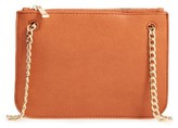 BP Faux Leather Crossbody Clutch - Brown