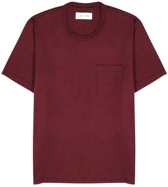 LES TIEN Burgundy cotton T-shirt