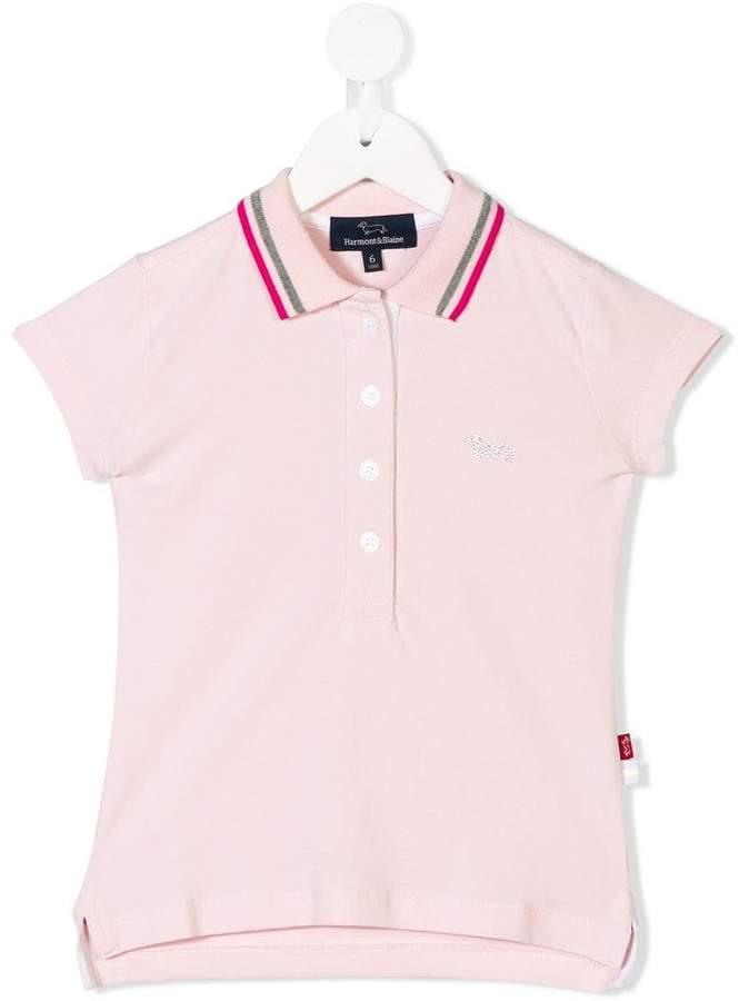 Harmont & Blaine Junior studded logo polo shirt