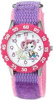 Disney Girl's 'Sheriff Callie' Quartz Stainless Steel and Nylon Watch, Color:Purple (Model: W003087)