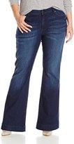 CJ by Cookie Johnson Women's Plus-Size Worthy Flare Denim Jean In Bettye