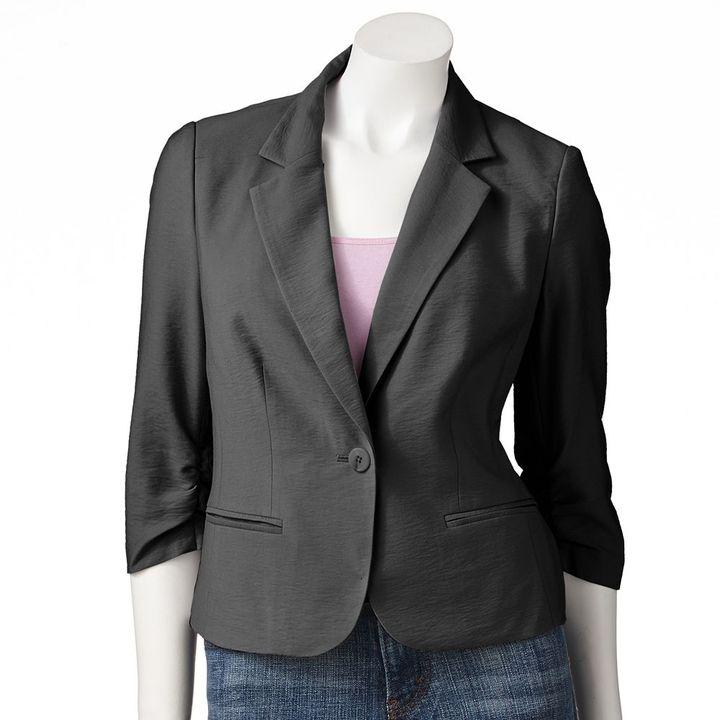 Lauren Conrad shirred blazer - women's