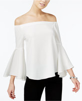 Bar III Off-The-Shoulder Bell-Sleeve Top, Only at Macy's