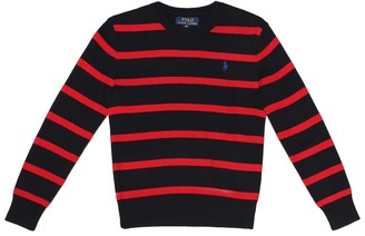 Polo Ralph Lauren Kids Striped cotton sweater