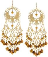 Fragments for Neiman Marcus Golden Filigree Crystal Chandelier Earrings