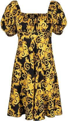 Versace Jeans Couture Baroque-Print Empire Line Dress