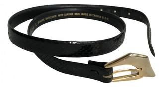 Non Signã© / Unsigned Black Water snake Belts