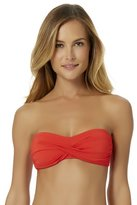 Anne Cole Women's Live In Color Twist Bandeau Bra Swim Top-M-AC17-LIPS