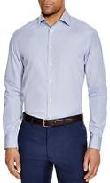 Armani Collezioni Small Check Slim Fit Button-Down Shirt