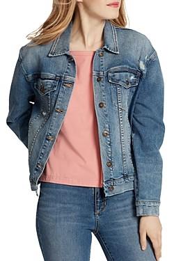 Ella Moss Distressed Denim Jacket