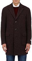 Canali Men's Kei Wool-Blend Single-Breasted Coat-BROWN