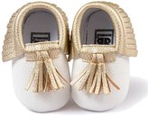 Gosear Cute Tassel Style Infant Baby Toddlers Kids Shoes with Soft Sole Unisex for Baby Girls Boys PU Shoe Upper Fits Babies Aged 0 to 6 Months
