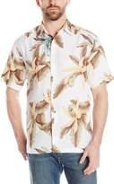 Cubavera Cuba Vera Men's Short Sleeve Linen Floral Print Shirt