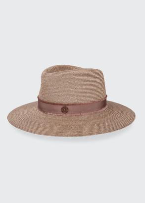 Maison Michel Charles Wide-Brim Straw Hat
