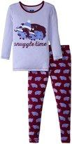 Kickee Pants Print Pajama Set (Toddler/Kid) - Melody Musk Ox - 7Y