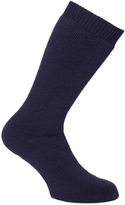 Barbour Navy Calf Length Wellington Socks