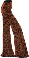 Balmain Flared Python Jacquard Knit Pants