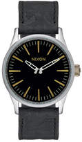 Nixon Men&s Sentry 38 Leather Watch