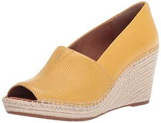 Gentle Souls womens Espadrille wedged sandal with ankle strap