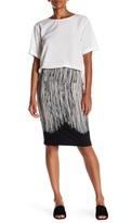 Norma Kamali Stripe Detail Knee Length Skirt