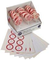 Wilton 24-Piece Lollipop Favor Kit - Pink/ White