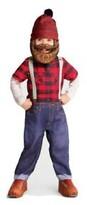 Hyde and eek! child lumberjack jumpsuit/hat w/beard-halloween costume 4-5t new