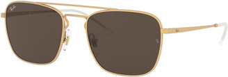 Ray-Ban Men's Square Aviator Sunglasses - Solid