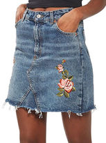 Topshop TALL Rose Embroidered Skirt