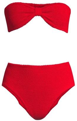 Hunza G Posey Hi-Rise 2-Piece Bikini Set