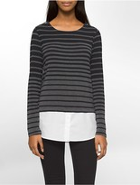 Calvin Klein Variegated Stripe Top
