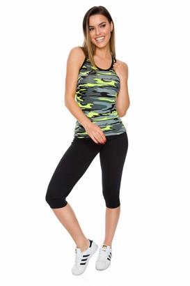 FUTURO FASHION Womens Capri Sports Pants Sportswear Gym Workout Running Fit 3/4 Leggings FS1107 White