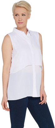 Joan Rivers Classics Collection Joan Rivers Sleeveless Layered Blouse