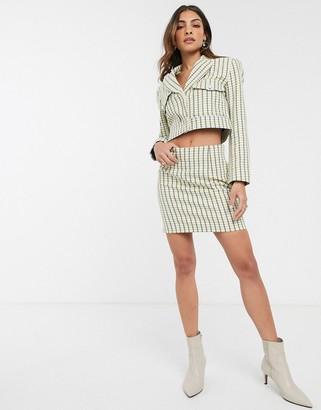 Asos Design DESIGN pop boucle suit mini skirt-Multi