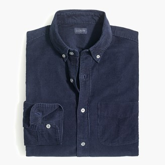 J.Crew Solid slim corduroy shirt