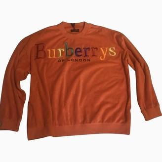 Burberry \N Orange Cotton Knitwear & Sweatshirts