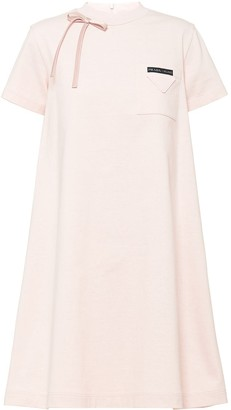 Prada Bow Detail Swing Dress