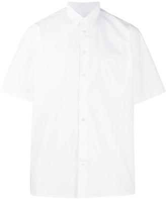 Raf Simons Logo Print Button Up Shirt