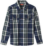 Joe Fresh Kid Boys' Flannel Shirt, Dark Grey Mix (Size S)