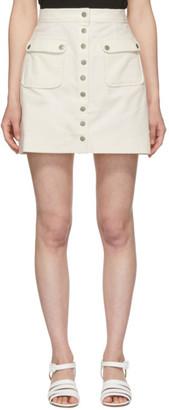 ALEXACHUNG White Corduroy Miniskirt