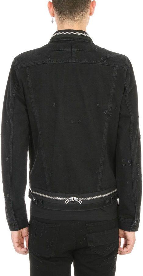 Givenchy Zipped Black Denim Jacket