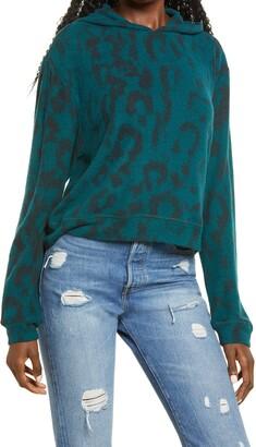 Blank NYC Leopard Print Hoodie