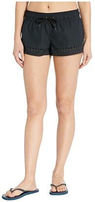 Roxy 2 Under the Moon Boardshorts (Anthracite) Women's Swimwear