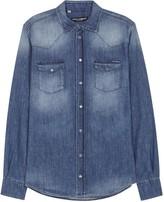 Dolce & Gabbana Blue Denim Shirt