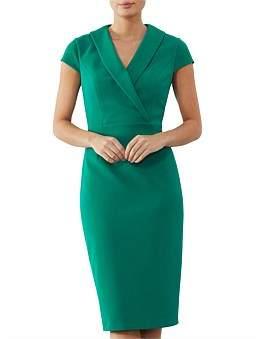 Anthea Crawford Jade Crepe Dress